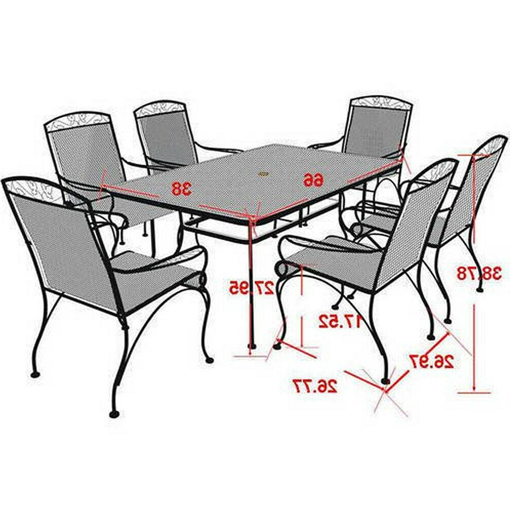 7-Piece Wrought Furniture Dining - Seats 6