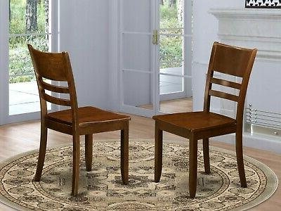 7pc oval kitchen dining room table w/ wood chairs espresso