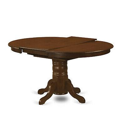 7pc oval kitchen dining set table chairs espresso