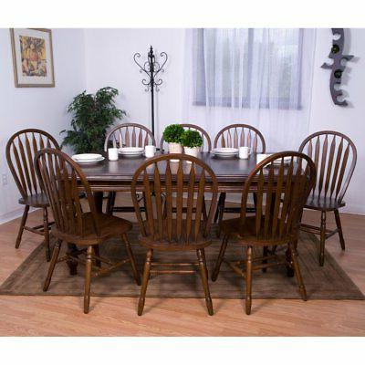 Sunset Trading 9-Piece Extension Dining Set with Arrowback C