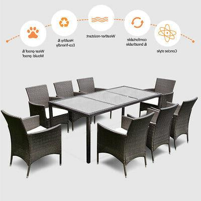 9PCS Dining Table Chairs New