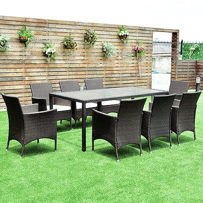 9PCS Furniture Dining Chairs Garden