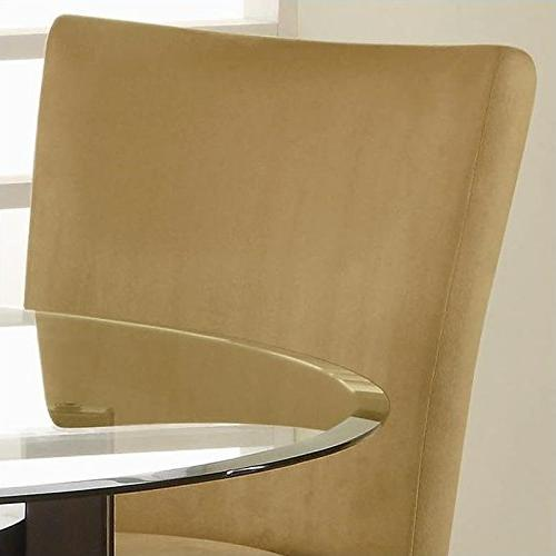 Bloomfield Chairs Cappuccino and Gold