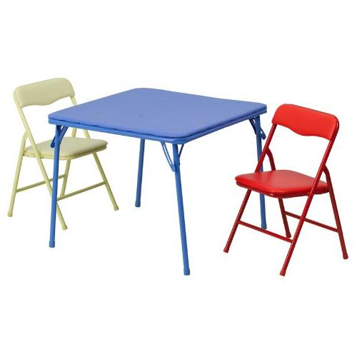Flash Furniture Kids Colorful 3 Piece Folding Table