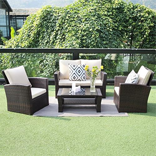 Wisteria Lane Outdoor Patio Sets, Wicker Sectional Sofa