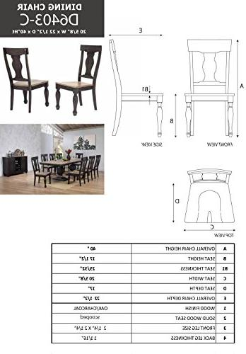 Kings Alleyton Piece Charcoal Dining 8 & Server