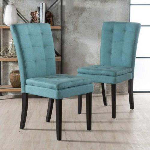 GDF Studio Lucid Design Fabric Dining Chair (Dark...