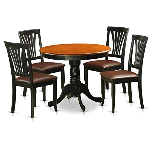 East West Furniture ANAV5-BLK-LC Antique 5 Piece Kitchen Noo