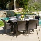 Anaya Outdoor 7-piece Wicker Dining Set by Christopher Knigh