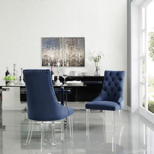 armless upholstered dining chair set 2 modern