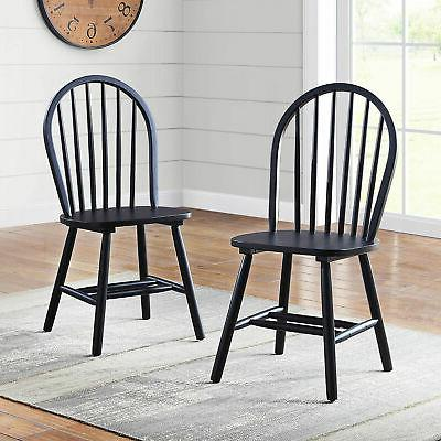 FARMHOUSE DINING CHAIRS Kitchen Solid Back
