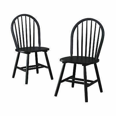 FARMHOUSE DINING CHAIRS Country Kitchen Round Back Seating