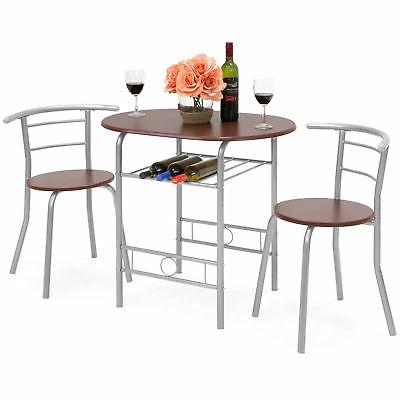 bcp 3 piece wooden dining table set