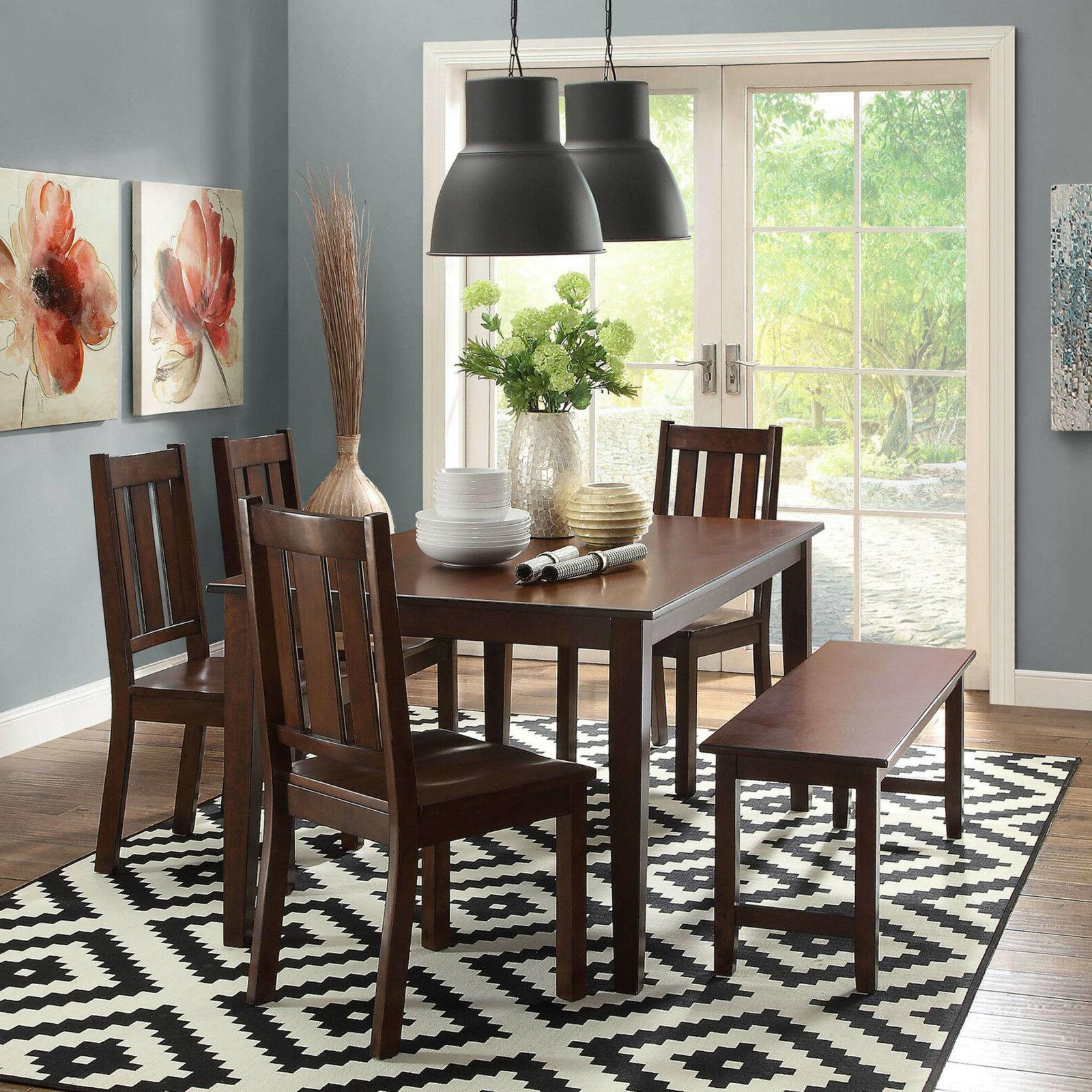 Better and Gardens Bankston Dining Table Espresso Color