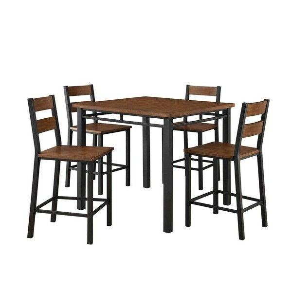 Better Homes Mercer Counter Dining Set Vintage Oak Seat