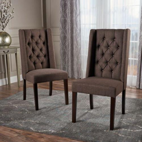 Billings Tufted Fabric Back Dining Chairs