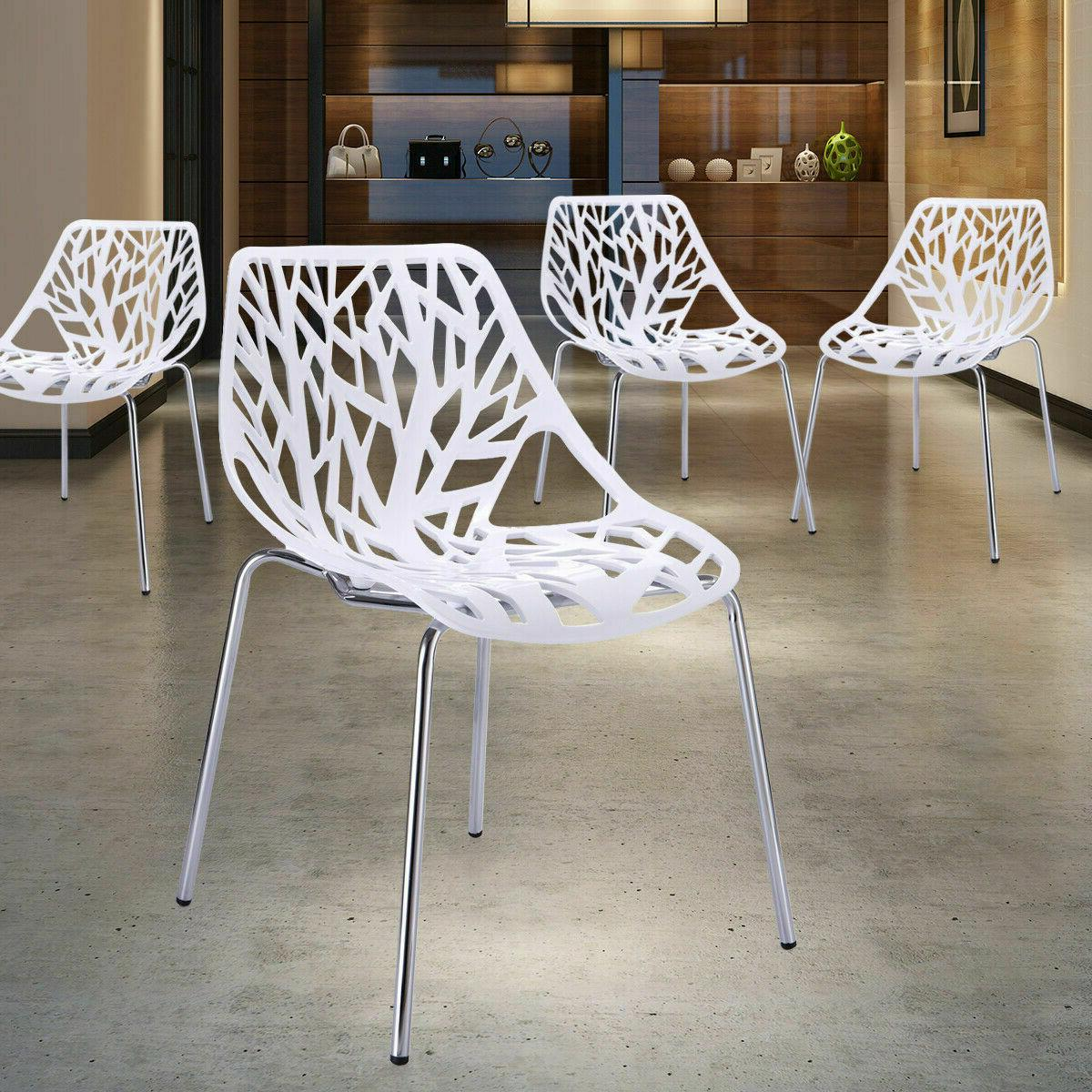 Dining Chairs Set of 4 White Chairs KID-FRIENDLY BirdNest Ch