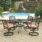 Home Styles Biscayne 48 in. Round Swivel Patio Dining Set -