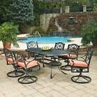 Home Styles Biscayne Swivel Patio Dining Set - Seats 6