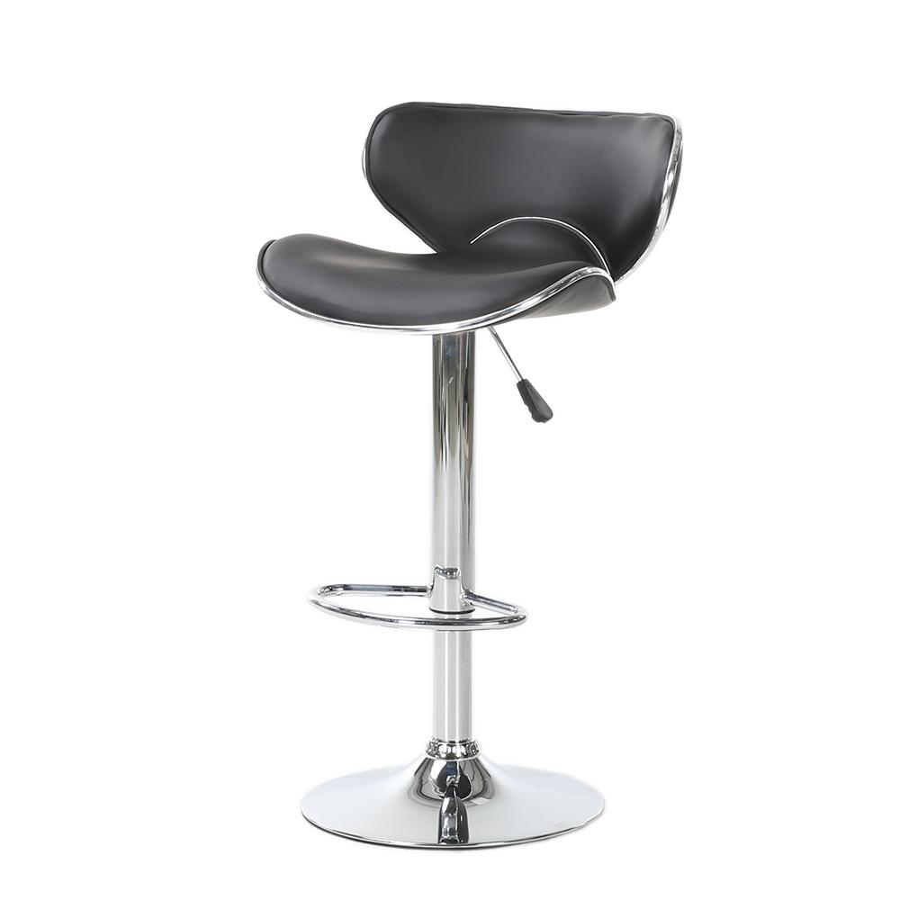 Set Of Stools Chair PU Leather Swivel Seat Counter