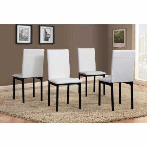 Black Brown pc Dining Table Faux Marble Chairs Dinette