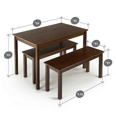 Brand New Zinus Juliet Espresso Wood Table with 3