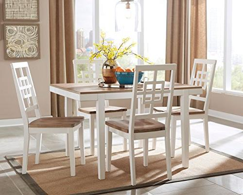 "Brovada Dining Room Table Set with 48"" Dining"