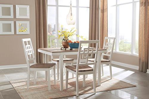"Brovada D298-225 Rectangle Dining Room Table 48"" Dining and Four 39"" Dining"