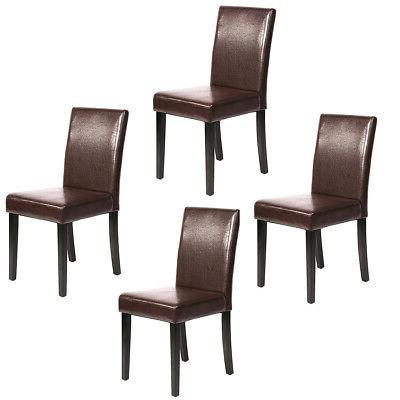 brown leather contemporary elegant dining