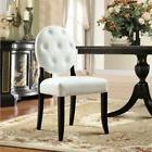 Modway Button Dining Side Chairs - Set of 2 - White