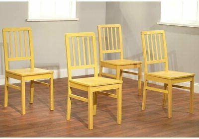 camden slatted back dining chairs set of