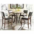 Cameron 5-Piece Counter Height Round Wood Dining Set w/Parso