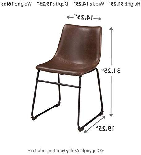 Ashley - Dining Chairs - of - Mid Style - Black Base Faux Leather Seat