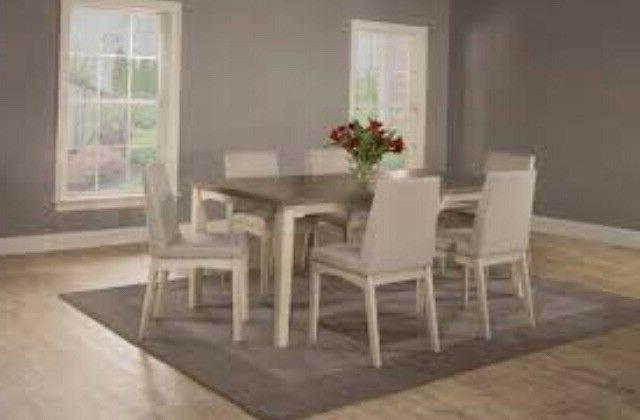 clarion seven piece rectangle dining set