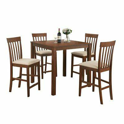 5 Piece Counter Height Dinette Set in Espresso Finish by Acm