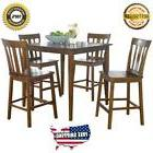 Counter Height Dining Set 5 Piece Kitchen Furniture Chair Ta