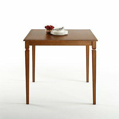 counter square wood dining table