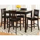 Jofran Dark Rustic Prairie 5 Piece Counter Height Dining Set