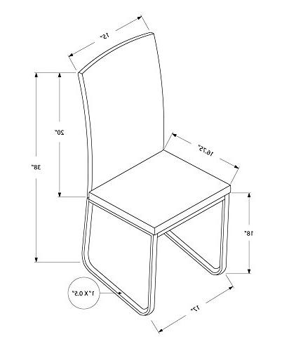 dining chair leather look chrome