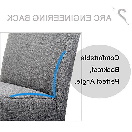 Dining Chair Elegant Modern Fabric Upholstered Dining Chairs Set