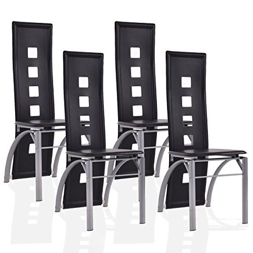 dining chairs pu leather steel