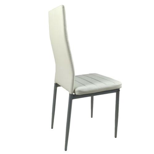 Dining Chairs Set 4 pieces White