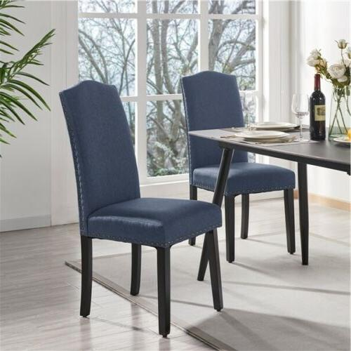 dining chairs soft padded with nailhead trim