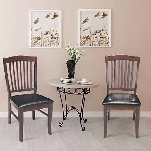 Giantex Set 2 Chair Home Kitchen Dining Room High Chairs w/PU Leather Seat ,