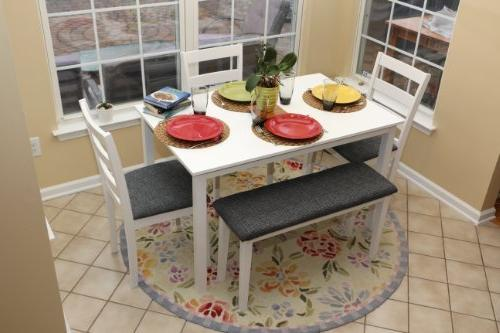 dining dinette table chairs bench