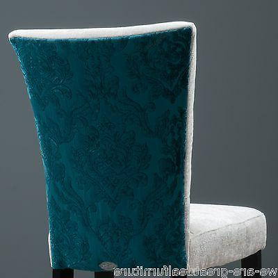 Set Dining Furniture Teal Fabric Dining Chairs