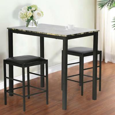 Dining Kitchen Table Dining Set Marble Rectangular Breakfast