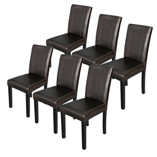 dining parson chair set of 6 armless