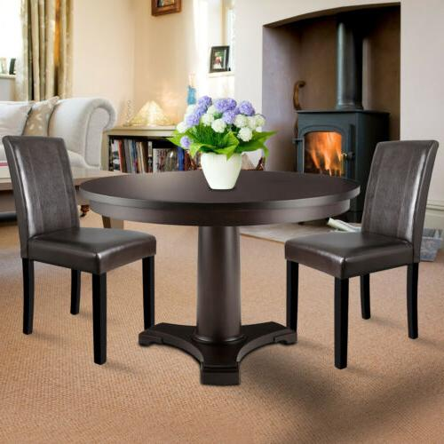 Dining Parson Room Leather Elegant