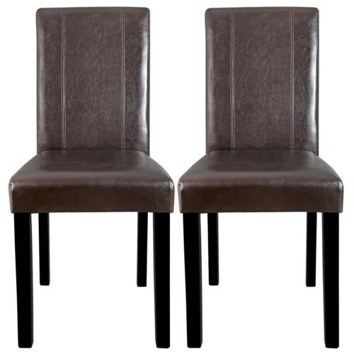 dining parson chair set of 2 armless